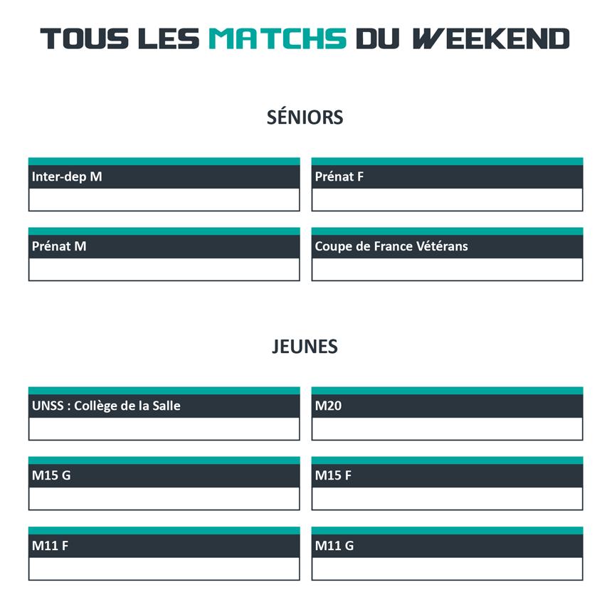 Les Matchs du weekend à l'AMVB Amiens