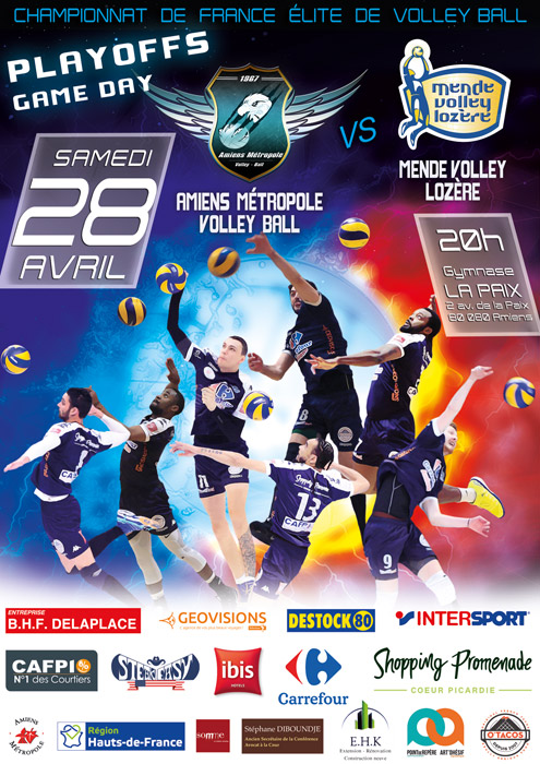 Amiens Métropole Volley-Ball reçoit MENDE VOLLEY LOZÈRE