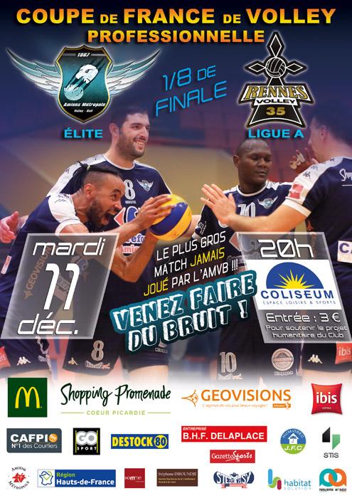 AMVB - Match de 1/8 Finale Coupe de France Pro H saison 2018-2019