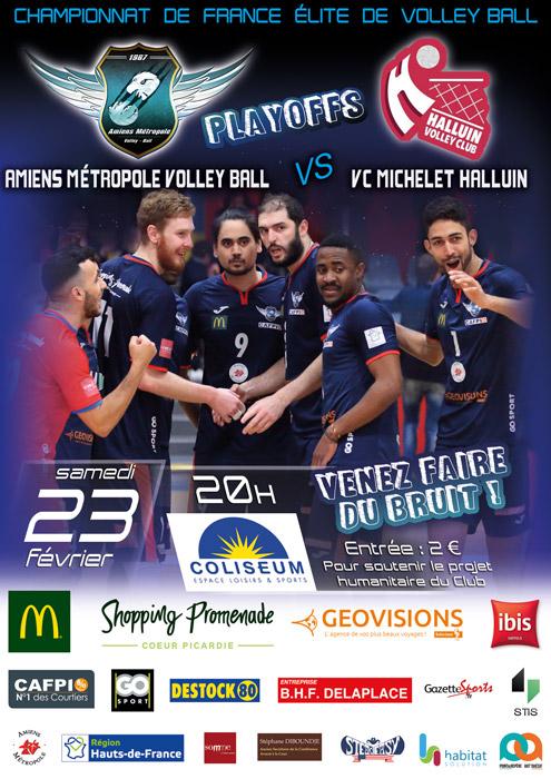 AMVB / HALLUIN - Championnat Elite - Saison 2018-2019 - Playoffs journée 1