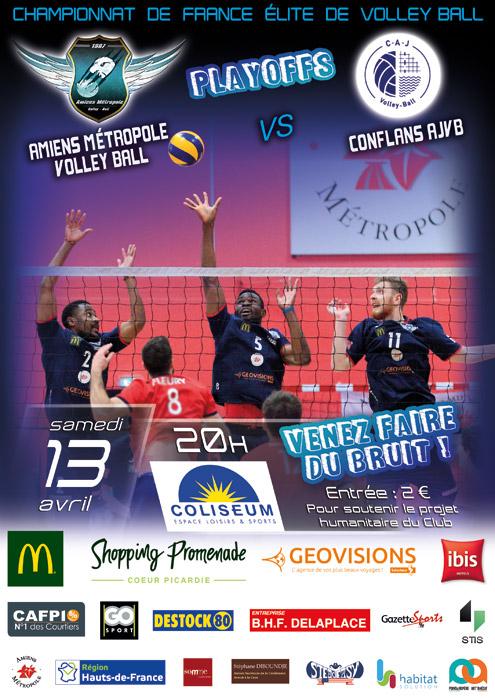 AMVB / CONFLANS AJVB - Championnat Élite - Saison 2018-2019 - Playoffs journée 7