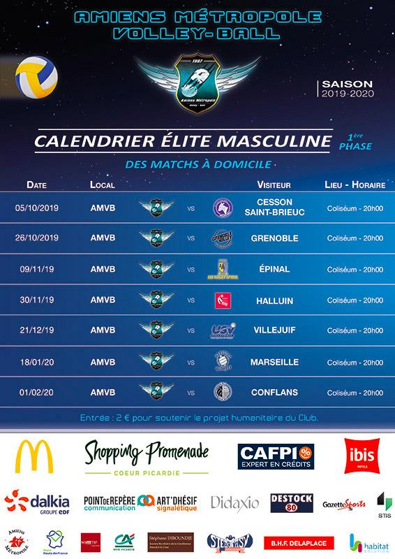 Amiens Métropole Volley Ball - Saison 2019-2020